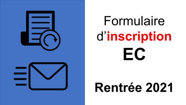 Inscription EC