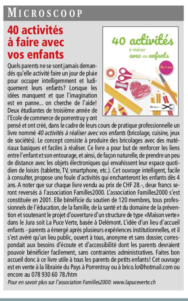 Brico Lo - article Arc Hebdo du 28.03.2019